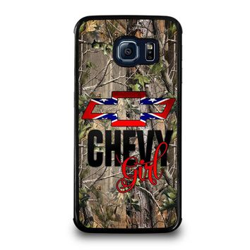 CAMO BROWNING REBEL CHEVY GIRL Samsung Galaxy S6 Edge Case Cover
