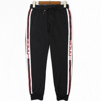 DCCKR2 GUCCI 2018 youth fashion sweatpants new casual pants men s pants F0498-1