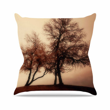 "Sylvia Coomes ""Rust Trees"" Photography Nature Throw Pillow"