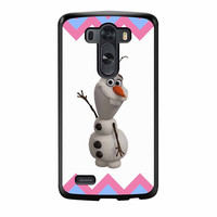 Olaf Disney Frozen Blue Pink Chevron LG G3 Case