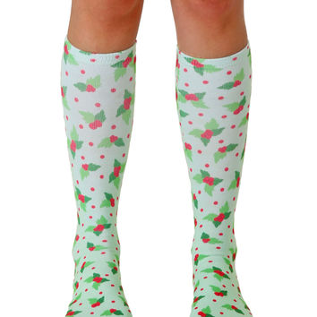 Holly Knee High Socks