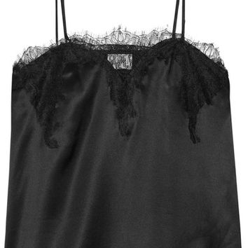 Cami NYC - Sweetheart lace-trimmed silk-charmeuse camisole