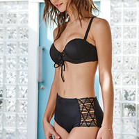 LA Hearts Lace-Up Push Up Bralette Bikini Top at PacSun.com