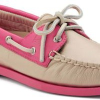 Sperry Top-Sider Authentic Original Color Pop 2-Eye Boat Shoe Nude/RoseLeather, Size 11M  Women's