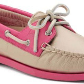 Sperry Top-Sider Authentic Original Color Pop 2-Eye Boat Shoe Nude/RoseLeather, Size 9.5M  Women's