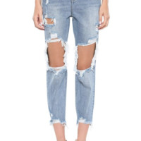 Over The Edge Distressed Jeans