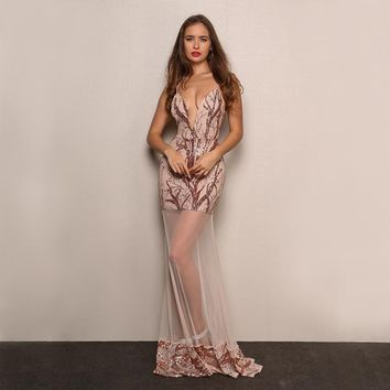 Fransisca sequin maxi dress