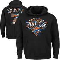 Majestic Carmelo Anthony New York Knicks Camo Name & Number Pullover Hoodie - Black