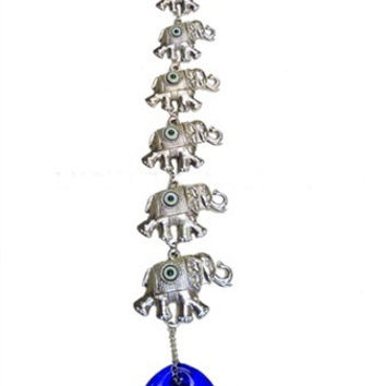 Seven Elephants Evil Eye Hanging Decoration