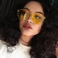 Women's Candy Colored Oversized Sunglasses