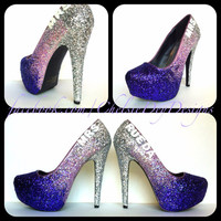 Mrs. Wedding Fade Glitter High Heels