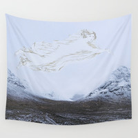 Spirit of the glen - glen Etive Scottish Highlands Wall Tapestry by anipani