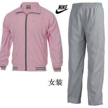 Nike Women's Sweatshirts Breathable And Comfortable - Pink/Grey