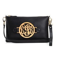 Multi-Functional Purse with Interchangeable Monogram