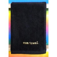 Cum Towel- Black/Gold
