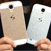 Bling Glitter Skin Glam Plastic Coque For Samsung Galaxy S3 S4 S5 mini S6 S7 Edge A3 A5 2016 J1 J3 J5 Grand Prime Case Cover