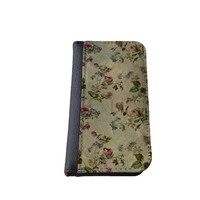 Floral iPhone 5C wallet case MADE IN USA - different designs flip case (Shabby Chic)