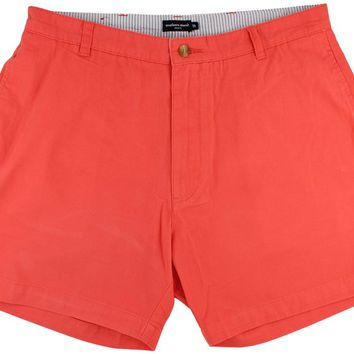 "The Regatta 6"" Short Flat Front in Coral Red by Southern Marsh"