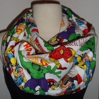 Marvel Comic Book Cover Circle Infinity Scarf Hulk Iron Man Wolverine Thor Spider-Man