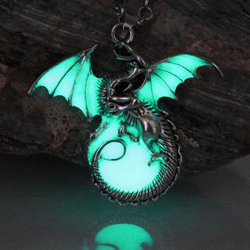 Luminous Dragon Pendants & Necklaces GLOW in the DARK