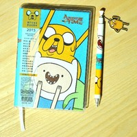 2014.8 ~ 2015 Adventure Time Schedule Weekly Planner Agenda Blue + Bonus Pen