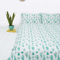 Cactus Print Duvet Set - Urban Outfitters
