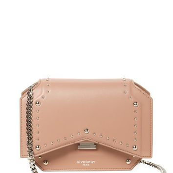 Bow-Cut Studded Leather Chain Wallet by Givenchy at Gilt