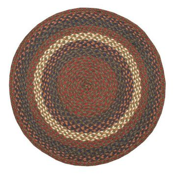 Burgundy/Gray Braided Rug In Different Shapes And Sizes