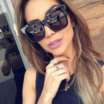 2017 Fashion Vintage Sunglasses Women Brand Designer Square Sun Glasses Women Glasses Big Frame Acetate Gradient Eyeglasses M510