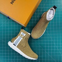 Louis Vuitton Aftergame Sneaker Boot Gold Sneakers - Best Online Sale