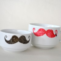 Stashed - Reclaimed Mug with Mustaches