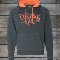 Juniors Country Girl ® Logo Neon Orange Hoodie