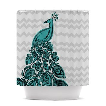 "Brienne Jepkema ""Peacock Blue"" Shower Curtain"