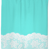 Blue and Lace Shower Curtain