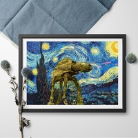 Vincent Van Gogh Starry Night Star Wars Canvas Painting Poster And Print Wall Art Picture Modern Wall Art Picture Home Decor