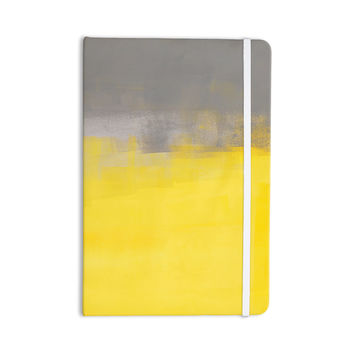"CarolLynn Tice ""A Simple Abstract"" Yellow Gray Everything Notebook"