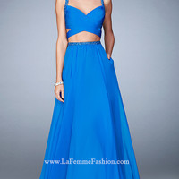 Long La Femme Sweetheart Two Piece Prom Dress