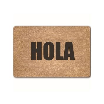 Autumn Fall welcome door mat doormat MDCT Personality Words Desgin Welcome s Hola Go Away Wipe Your Paw Pattern  Floor Mats Anti-slip Area Rugs Carpet AT_76_7