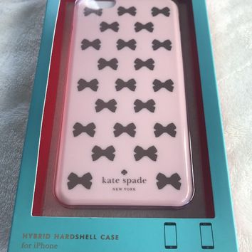 Kate Spade Pink Bow Tie Mini Hybrid Hard Shell Case Apple iPhone 6 Plus Phone