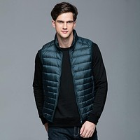 Men's Warm Ultralight Down Jackets Vests Lightweight Coats