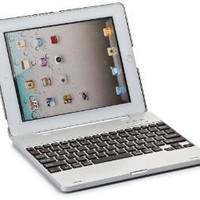 iPad 2 Keyboard case, COOPER KAI SKEL Bluetooth QWERTY Wireless Keyboard Hard Clamshell Carrying Case Cover with Battery Power Bank for Apple iPad 2 (Silver)