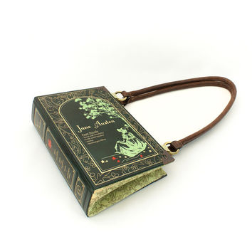 Jane Austen Bookpurse Clutch or Handbag - Decadence Book purse -