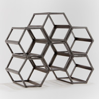 Black Hexagonal Wine Rack - World Market