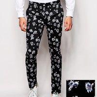 ASOS Super Skinny Smart Pants In Print