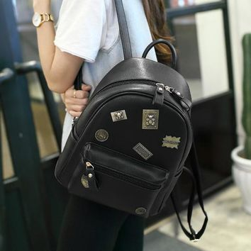 ONETOW Metal stickers fashion mini backpack