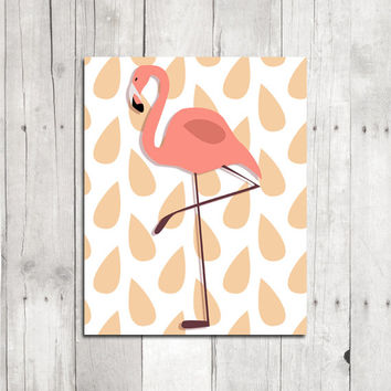 Flamingo Print // Printable Flamingo Wall Art, Printable Art // Flamingo Printable // INSTANT Digital Download, Digital Graphics
