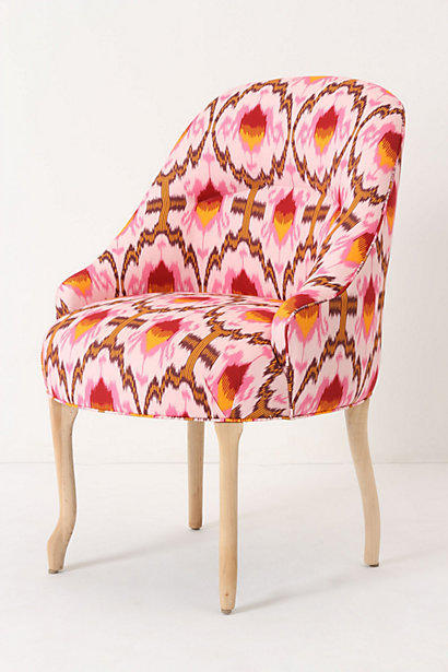 Raspberry Ikat Pull-Up Chair