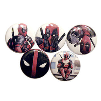 "DEADPOOL movie 1"" pinback button set"