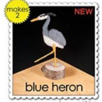 Woolpets Great Blue Heron Wool Needle Felting Craft Kit -Intermediate Level