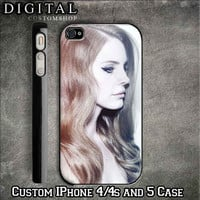 Lana Del Rey custom Black iPhone 4/4s and Also iphone 5 Case Apple Phone Hard Cover Plastic